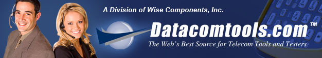 Datacomtools features a full line of telecom tools such as cable testers, cat5 cable testers, crimp tools, punchdown tools, fiber optic test equipment and connectors, plus thermal label printers and more.